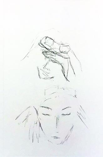 Sketch: Pencil - Sunglasses Girl
