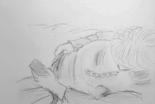 Sketch: Pencil - Reclining