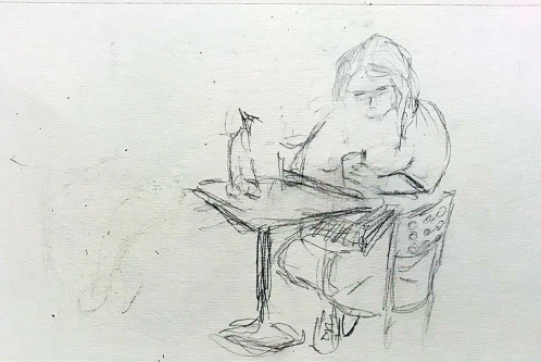 Sketch: Pencil - Sweet Reader