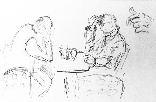 Sketch: Pencil - Two Thinkers