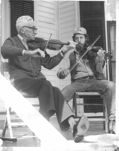 Photograph by Bob Yahn: Ed McDermott and Jack Davis at 1st NJFF 1975