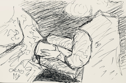 Sketch: Pen and Ink - Finding a Vein