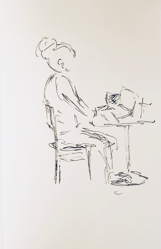 Sketch: Pen and Ink - Posture