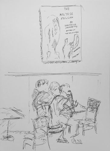 Sketch: Pen and Ink - Busy Man