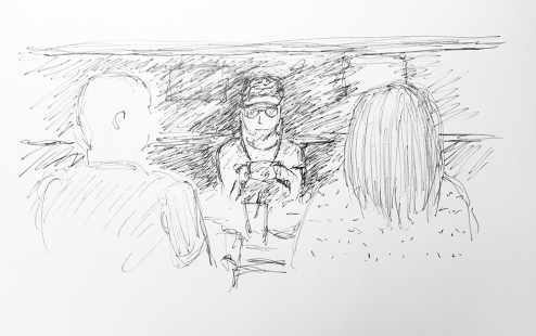 Sketch: Pen and Ink - Out to Dinner