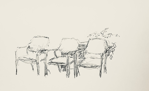 Sketch: Pen and Ink - Waiting Interrupted