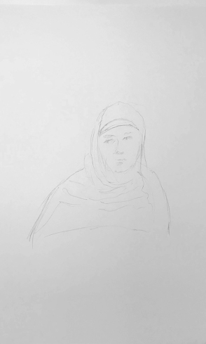 Sketch: Pencil - Woman with Habit