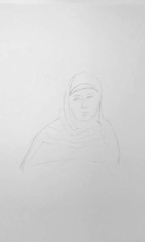 Sketch: Pencil - Woman with Habit