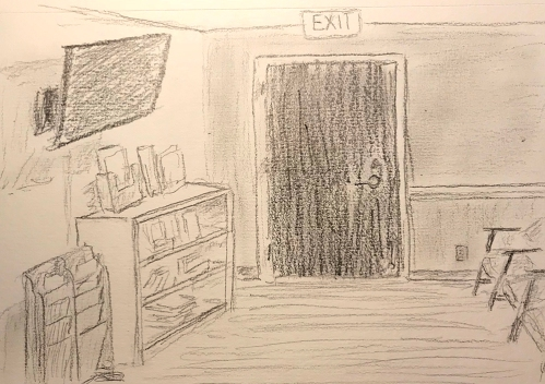 Sketch: Pencil - Doc's Office (and Value Study)