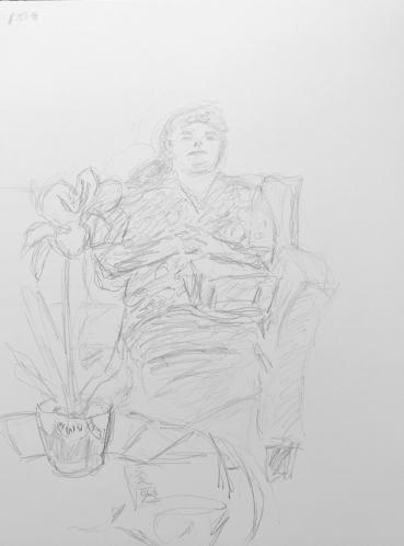 Sketch: Pencil - Sleepy Woman