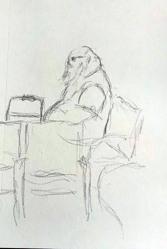 Sketch: Pencil - Very Heavy Man