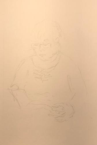 Sketch: Pencil - Woman Next to Me