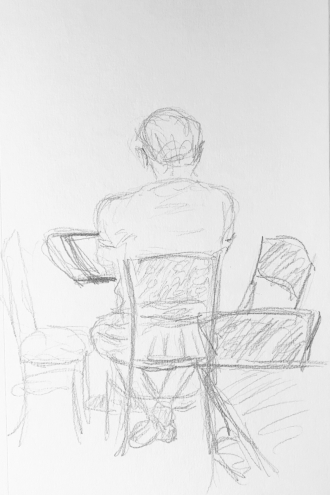 Sketch: Pencil - Back of a Young Man