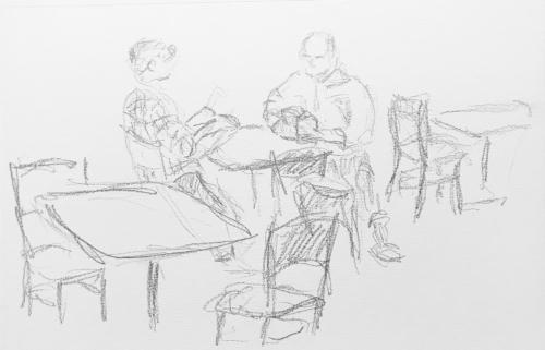 Sketch: Pencil - Couple Reading