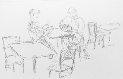 Sketch: Pencil - Couple Reading