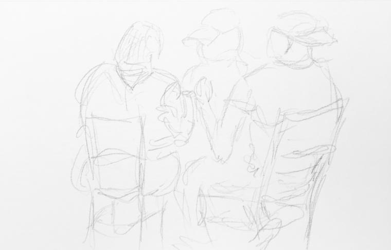 Sketch: Pencil - Interposed Figures