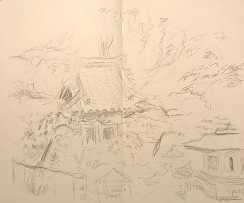 Sketch: Pencil - Japanese Garden