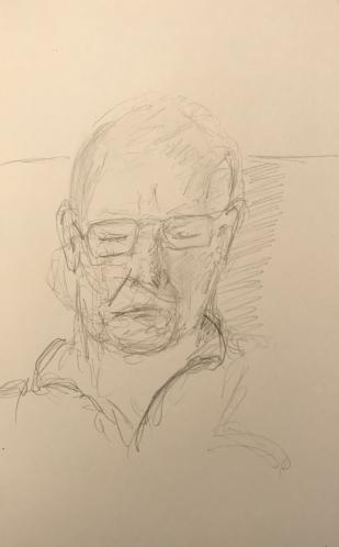 Sketch: Pencil - Man Asleep