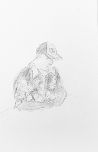 Sketch: Pencil - Man in Ball Cap