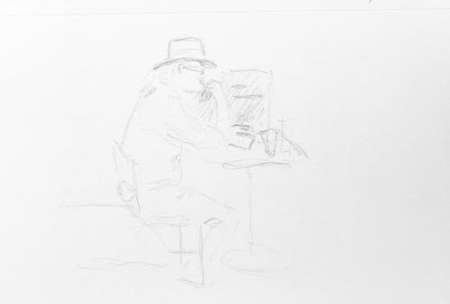 Sketch: Pencil - Man In Hat