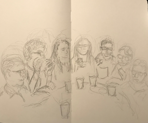 Sketch: Pencil - Out with Family and Friends
