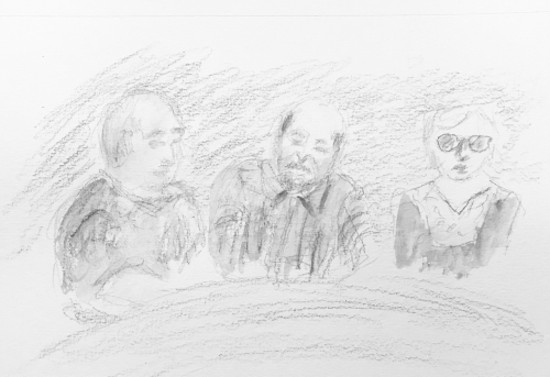 Sketch: Pencil - Three Mysterious Figures