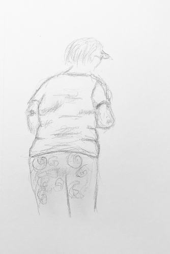 Sketch: Pencil - Woman From Behind