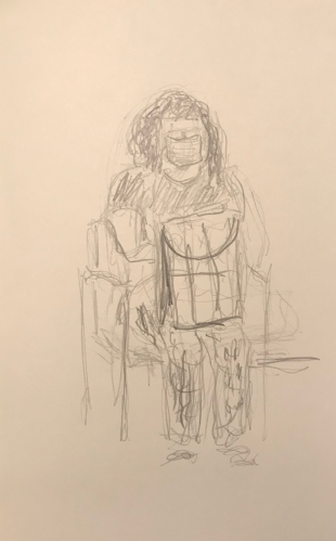 Sketch: Pencil - Woman Waiting to See the Doctor