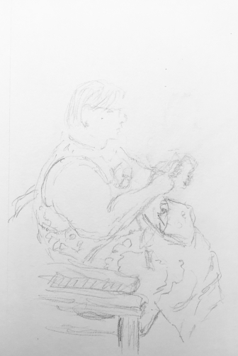 Sketch: Pencil - Woman with Heavy Arm