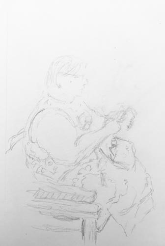 Sketch: Pencil - Woman with Heavy Arm