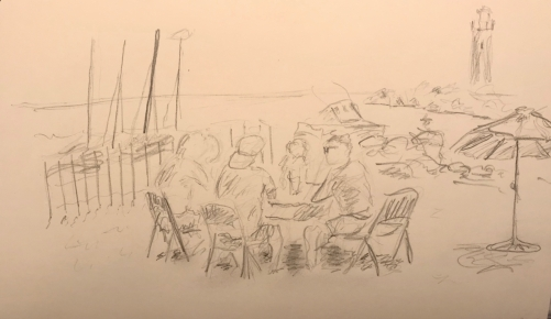 Sketch: Pencil - Beach with Displaced Shade