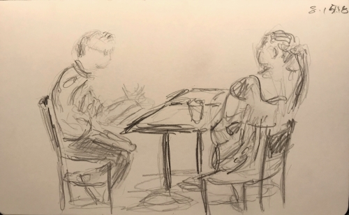 Sketch: Pencil - Conversation