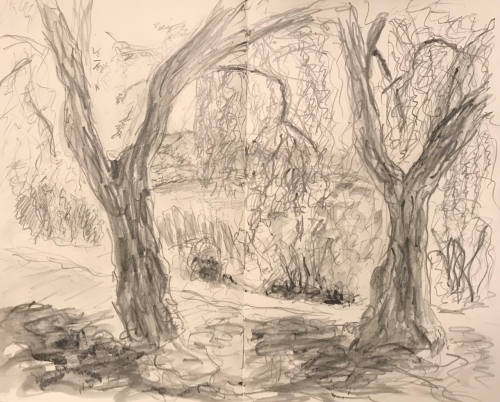 Sketch: Pencil - Landscape After Wash
