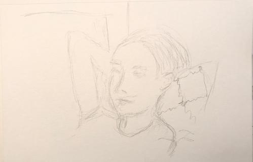 Sketch: Pencil - Modigliani Model