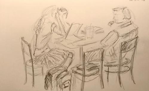 Sketch: Pencil - Second Day of School