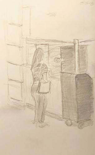 Sketch: Pencil - Waiting Begins Here