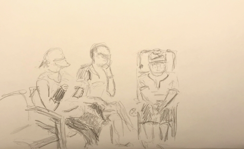 Sketch: Pencil - Waiting for Doc Appointment