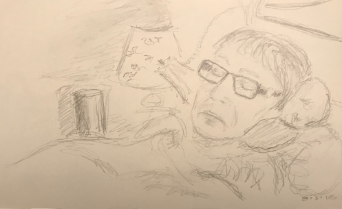 Sketch: Pencil - Woman in Groggy State