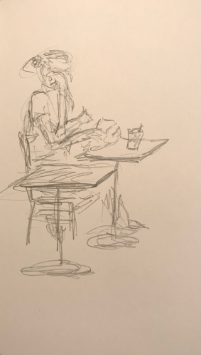 Sketch: Pencil - Woman with Three Arm Positions