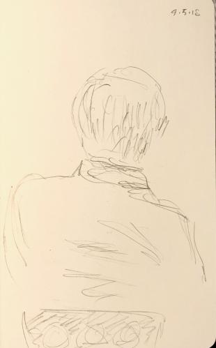 Sketch: Pencil - Assymetrical Man