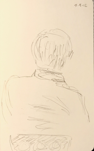 Sketch: Pencil - Assymetrical Man