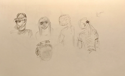 Sketch: Pencil - Collection of Faces Poolside