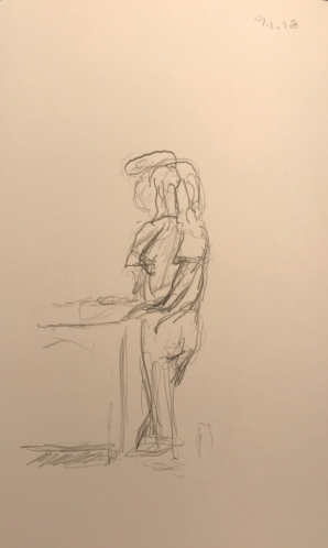 Sketch: Pencil - Confusion of Overlapping Figures