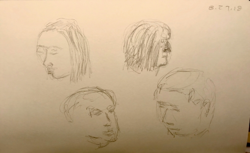 Sketch: Pencil - Face Practice with Mistakes