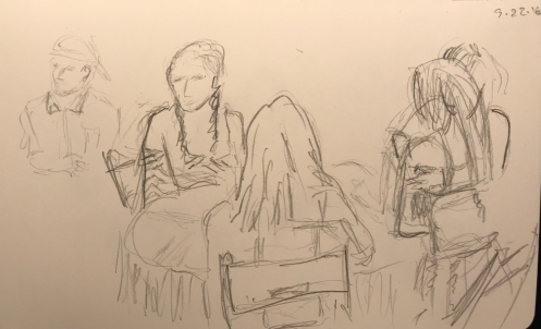 Sketch: Pencil -Last Outdoor Party of the Year