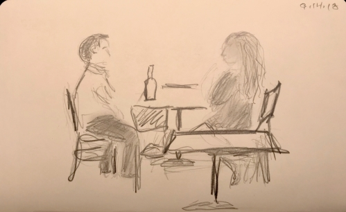 Sketch: Pencil - Thinking Up a Toast