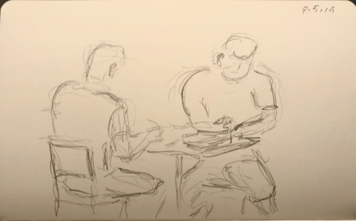Sketch: Pencil - Two Manly Men Reading