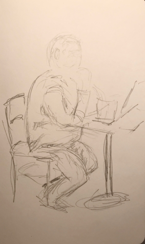 Sketch: Pencil - Uncomfortable Man
