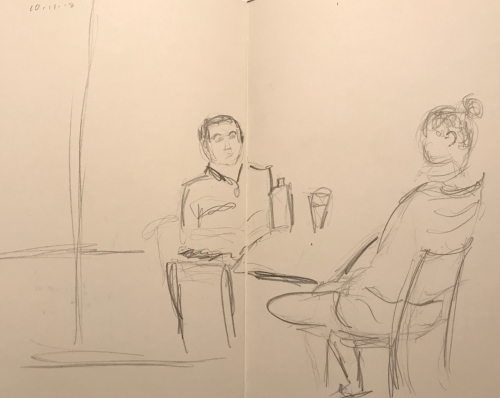 Sketch: Pencil - Business Training Session
