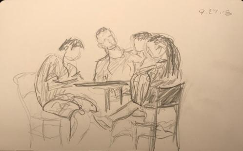 Sketch: Pencil - Quartet of Studiers